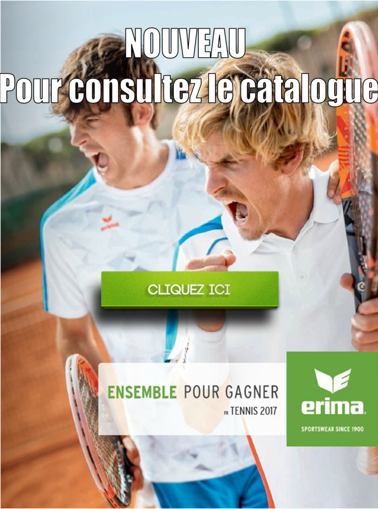 Catalogue Tennis ERIMA 2017