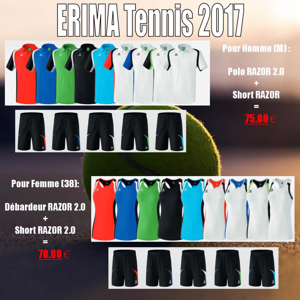 Sélection Tennis ERIMA